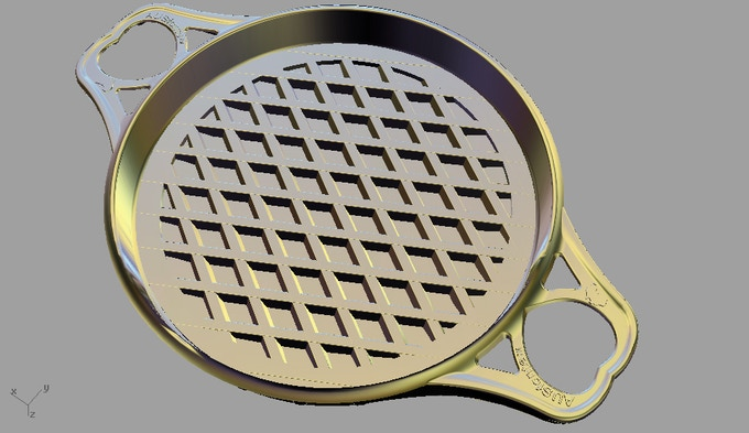 "At 304mm (12""), the diamond-grill Large PGi fits just inside the base of BIGskillet for maximum grilling area."
