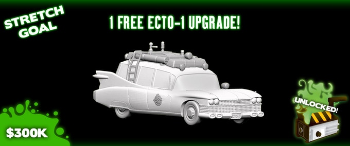 Ecto-1 upgraded from card board to plastic mini for all games moving forward.