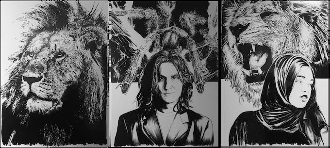 From left to right: King, Patrick & Tarantula and Jaleesa & King