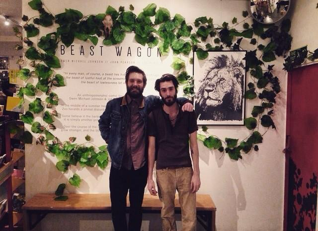 Beastie Boys- John Pearson & Owen Michael Johnson at the Beast Wagon exhibition launch, Orbital Comics London