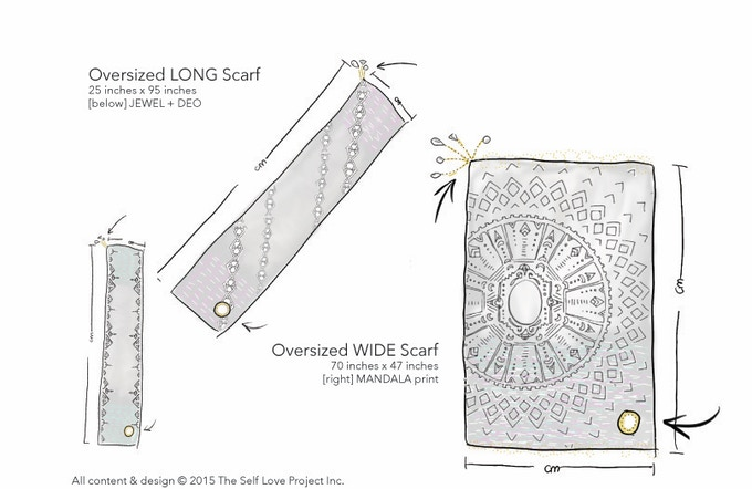 Drawings of our scarves.