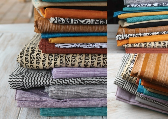 Khadi (handwoven fabric) for our limited edition pouches.