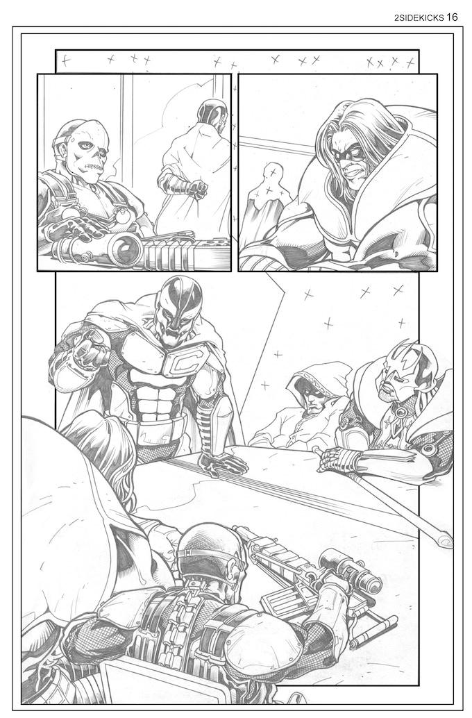 Sidekicks #2, Page 16 - Pencils by Bong Dazo
