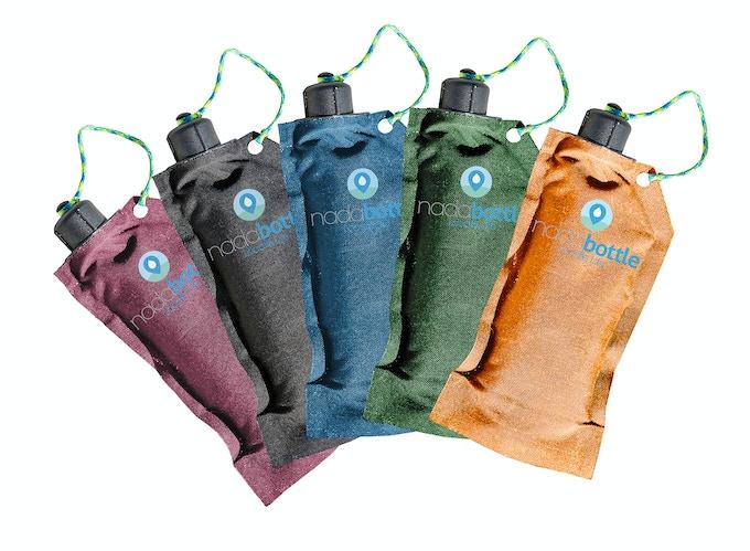 Nada Bottle in all five original colors