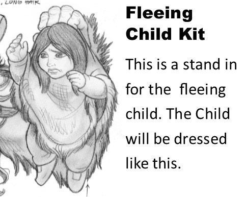 Fleeing Child Kit (2 models) - $6 - KS EXCLUSIVE