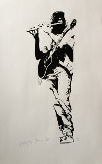 """Tim Young created """"Michael Monroe"""", Signed, Numbered Artwork"""