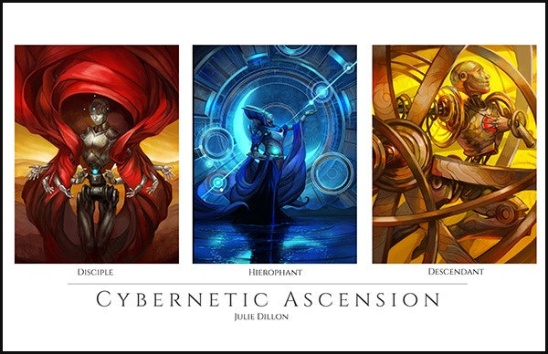 Mockup of the Cybernetic Ascension Poster