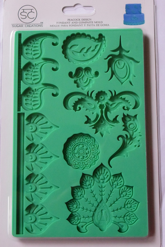 Sugar Creations Peacock/Paisley Mold in current packaging