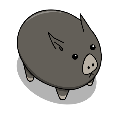 Here is the piglet's exclusive skin design for The Darwinist pledge!