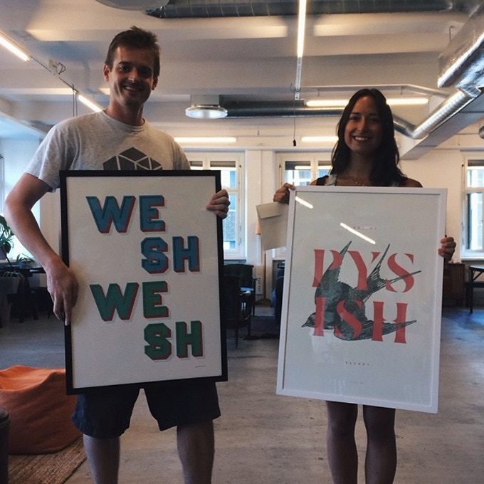 We truly miss both Arnaud and Elin, but look at their awesome prints!