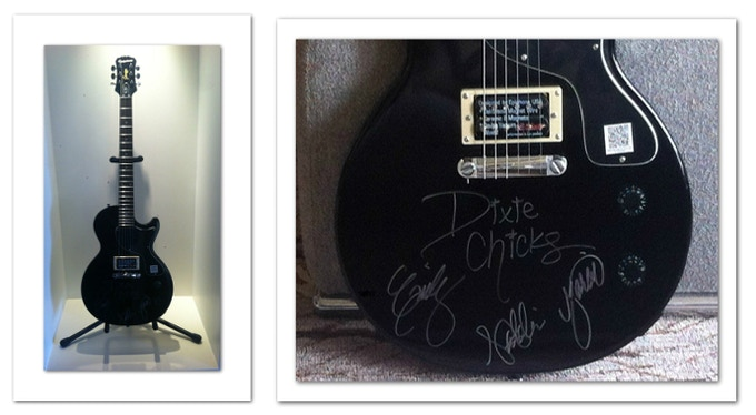 The Dixie Chicks signed this guitar for supporters of the film!