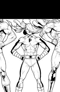 Sidekicks #1 Cover - Hand Penciled and Inked by Miguel Mendonça
