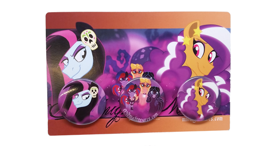 Pin a Tale (Set of Three 1.5 Inch Buttons)
