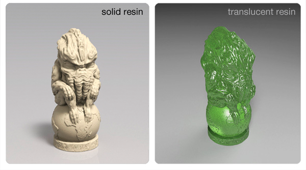 look at the details in the solid resin; translucent is hard to show in a pic, but amazing in your hands