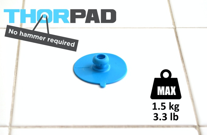 ThorPad holds up to 1.5 kg or 3.3 pounds