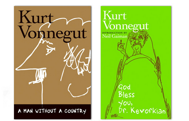 "Some of Vonnegut's most personal, provocative, and poignant writing is found in his later works, ""God Bless You, Dr. Kevorkian"" and ""A Man Without a Country."" Get both, bundled. Courtesy Seven Stories Press."