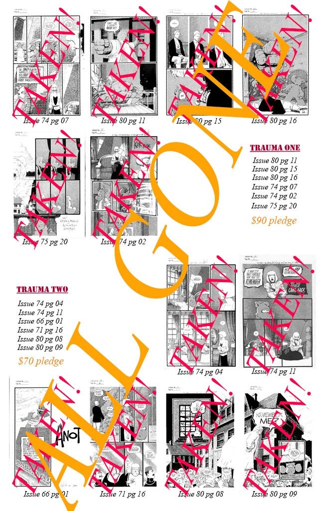 """One-of-a-kind Bonus Prints numbered """"1/1"""" and personalised to you by Dave Sim"""