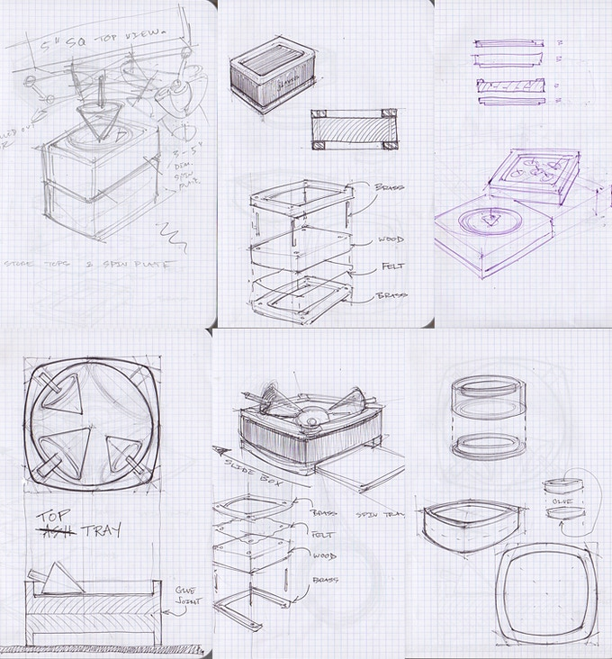 Sample of some of the many sketches