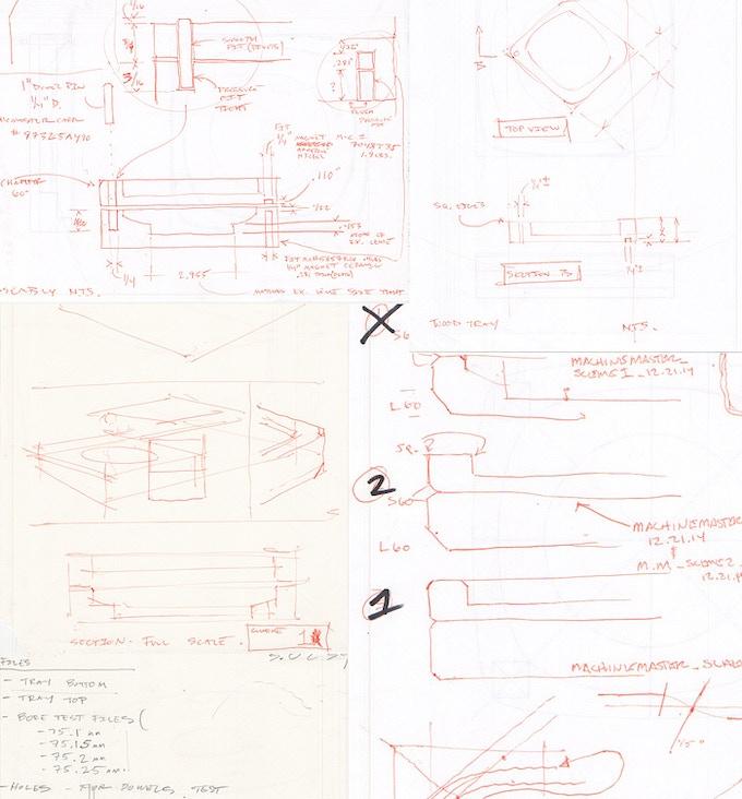 Sketches on design development