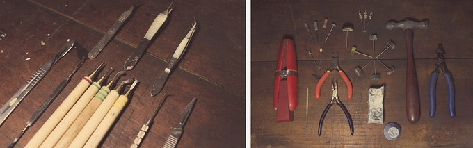 Some of the tools I use to create my work