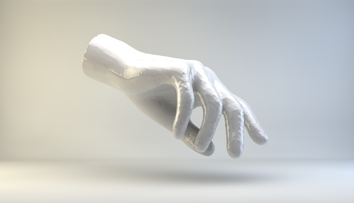 Jeremy Bailey, Famous New Media Artist's Hand, artist render, 2014.