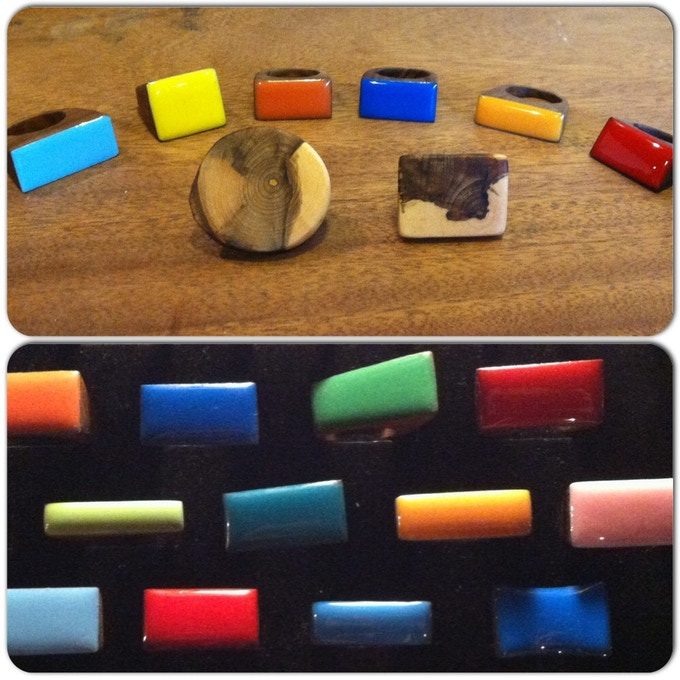 Large resin rings and round/square style ring
