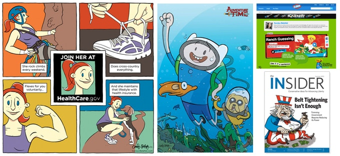 Portfolio examples of freelance illustration projects