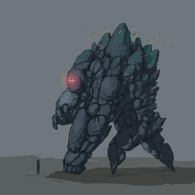 Stone Ganoko Boss concept art
