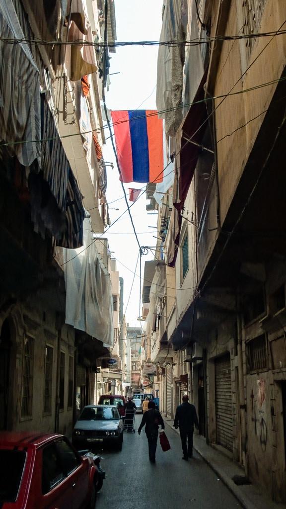 A sidestreet connecting Arax & Marash Streets