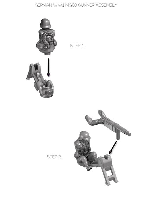 Maxim gunner assembly