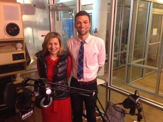 Ari with Season 3 Interviewee Margaret Sullivan-Public Editor of The New York Times
