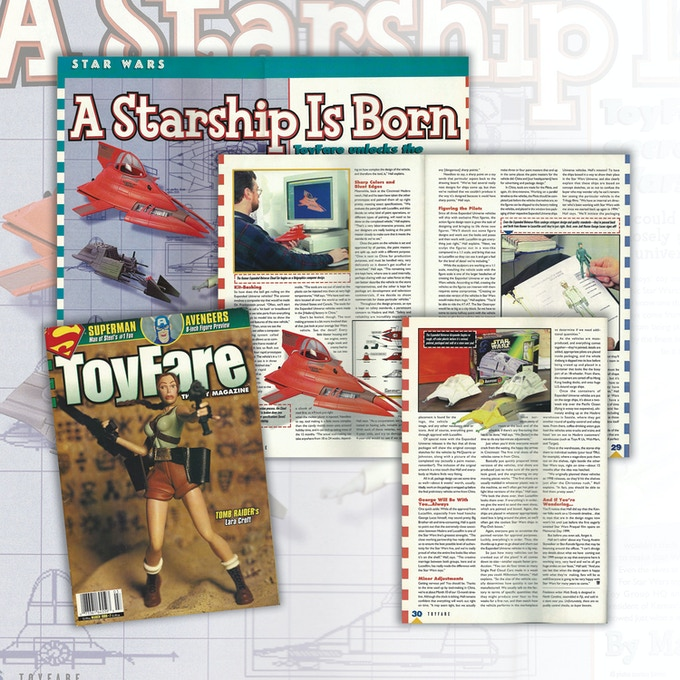 In assembling this book I dug deep into magazine articles from when the toys were first released. There's a lot of great info out there; with Universe Expanded I hope to give Star Wars fans a complete look at this 1998 subline.