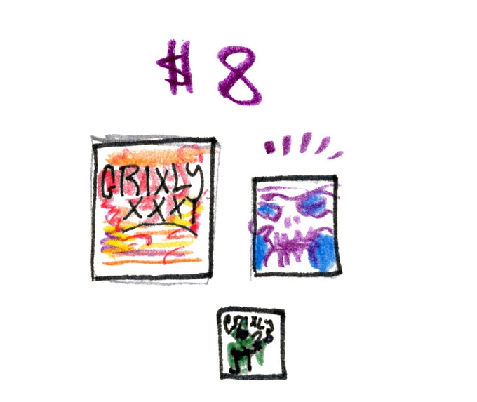 Grixly #31, a piece of original art and a bonus issue of Grixly
