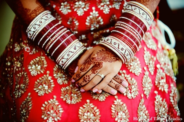 Indian Bride with Sari and Henna