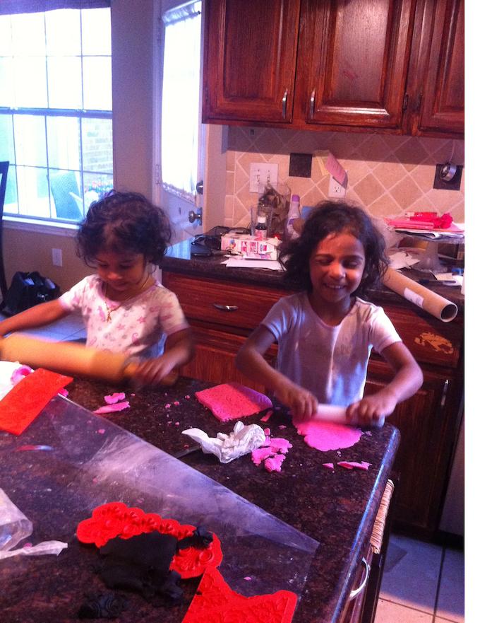Kids having fun helping out!