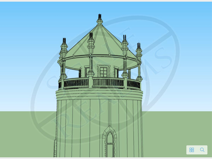 Water tower cad work is done.