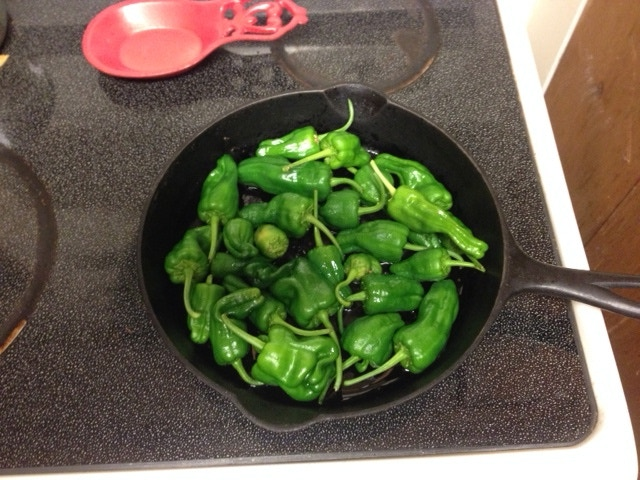 Padron Peppers Cooking!