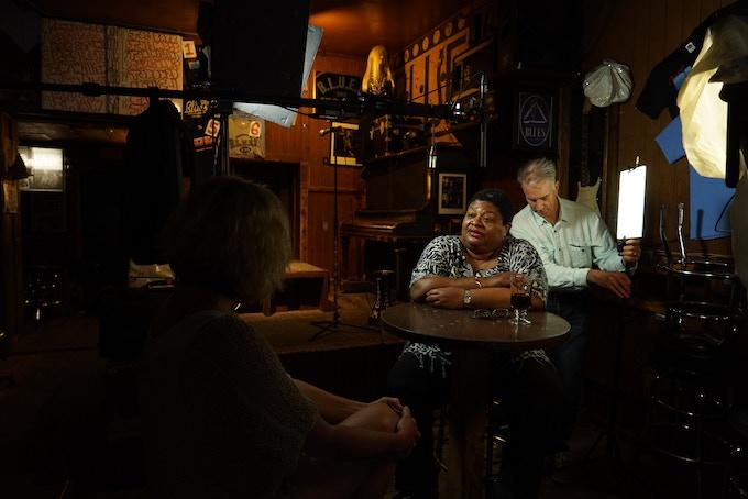 Deitra Farr, Pieter De Vries and me on set at B.L.U.E.S.