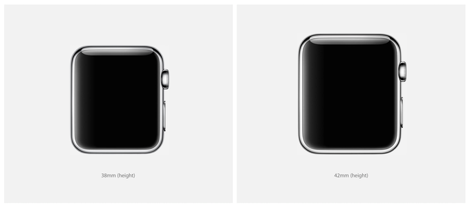 38mm Small Apple Watch = 20mm bands  /  42mm Large Apple Watch = 22mm bands