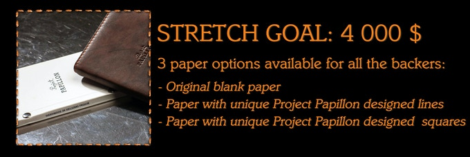 Backers request #1: notebook papers with special designs, lines, and squares.