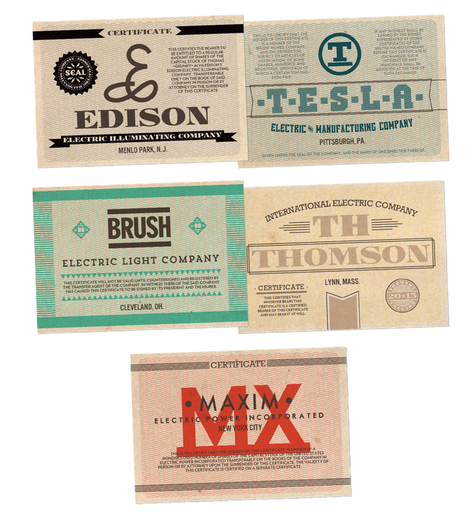 35 Stock Certificate Cards