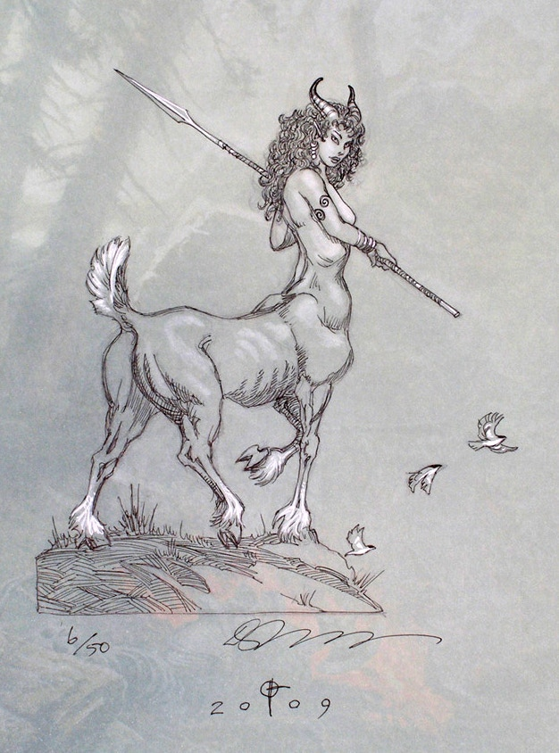 Daren Bader sample drawing for the Original Sketch Drawing Combo Pack. The character drawn will be one featured in Tribes of Kai and drawn on the front endpaper of the deluxe edition.