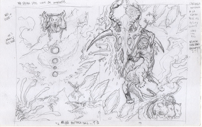 Tribes of Kai sketches sample that will be included in the deluxe edition.
