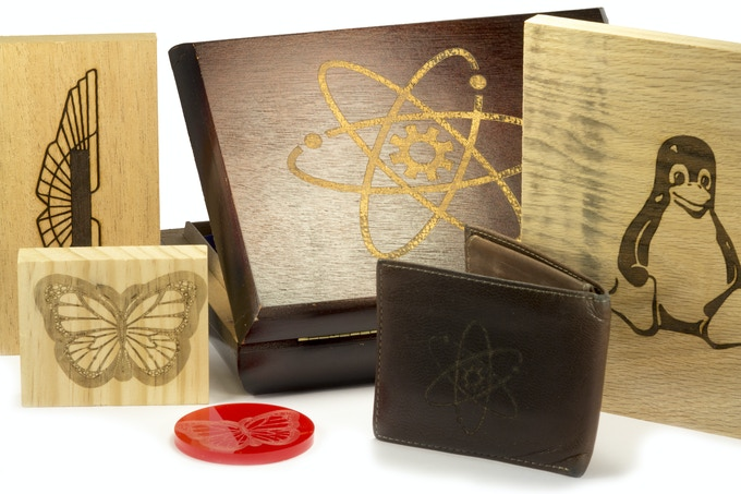 BoXZY likes to etch and cut Wood, Leather, Plastic and More!