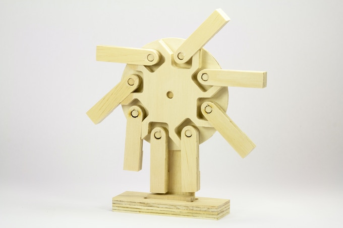 "This mini perpetual motion wheel was milled from 1/2"" Plywood on BoXZY"