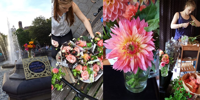 Flower Happy Hours in Washington Square Park
