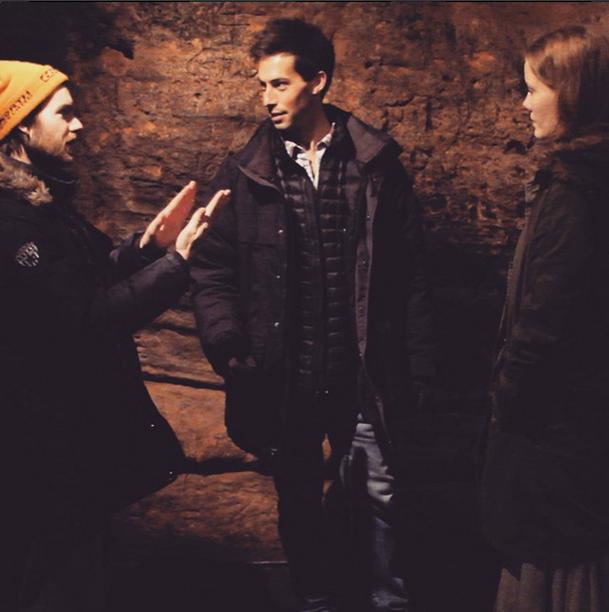 director Max Gold with stars Berta Andrea and Ingi Hrafn