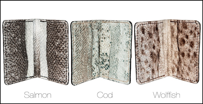 The Eco wallet - Fish leather card wallet inner