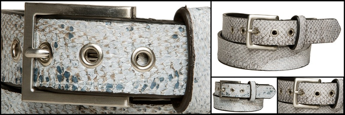 Fish leather belts