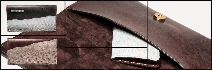 Fish leather and leather clutches